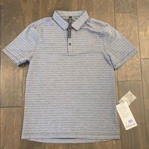 NWT Lululemon grey striped polo